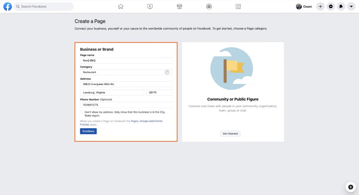 Facebook Basic Details