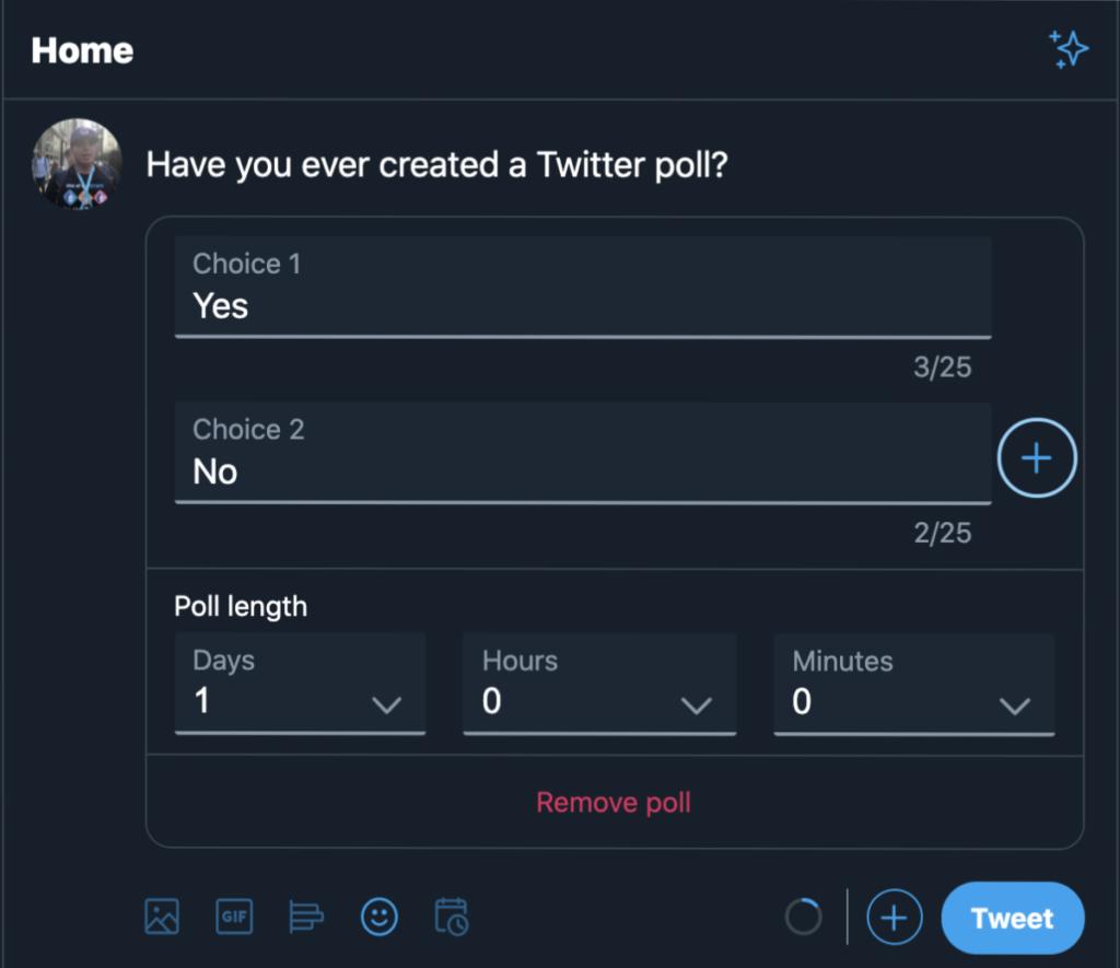Twitter Poll