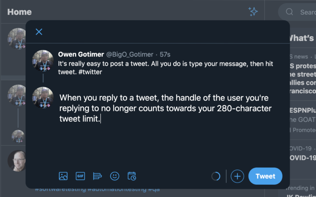 Twitter Reply
