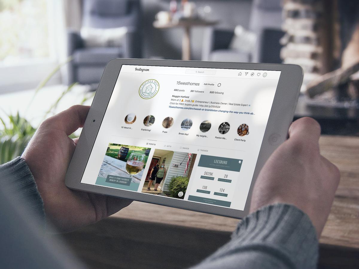 15 West Homes Social Media iPad