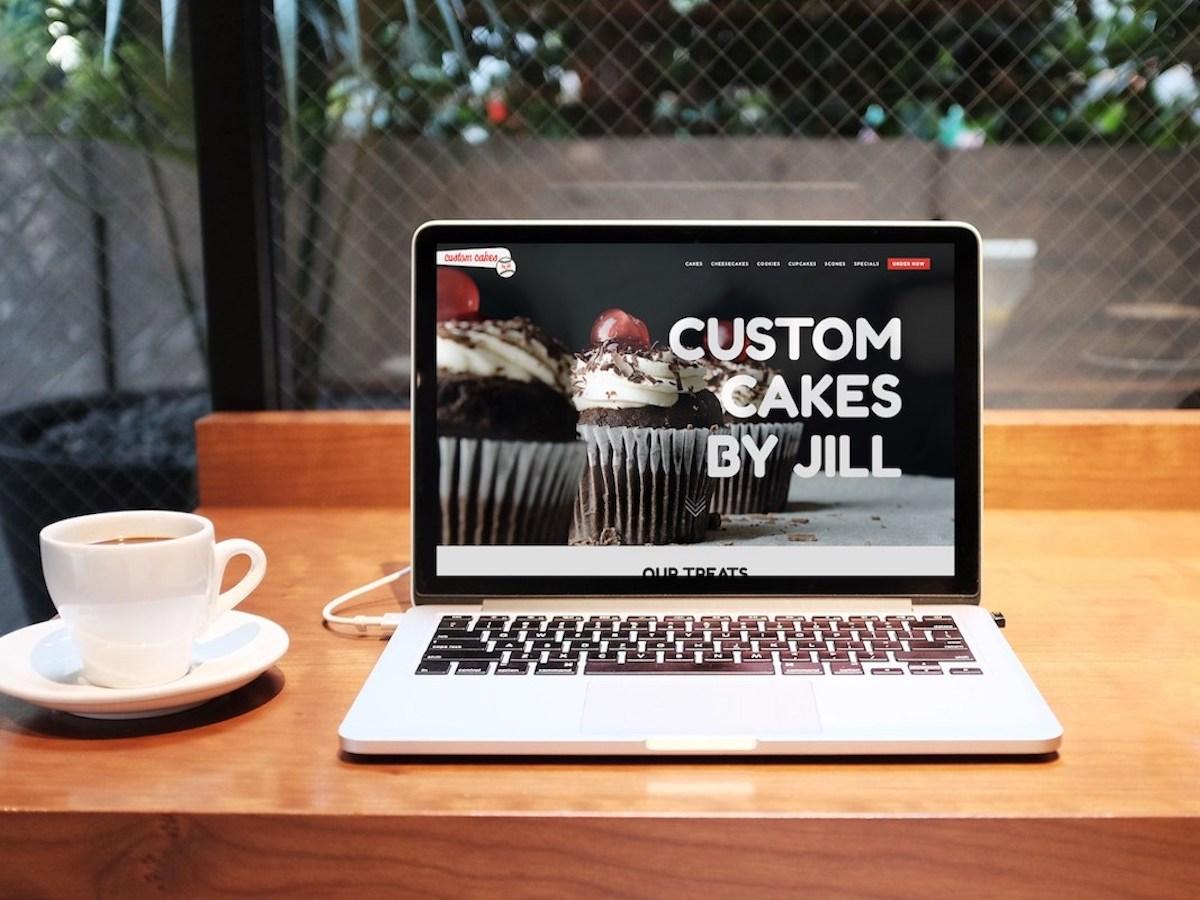 Custom Cakes by Jill Website Laptop