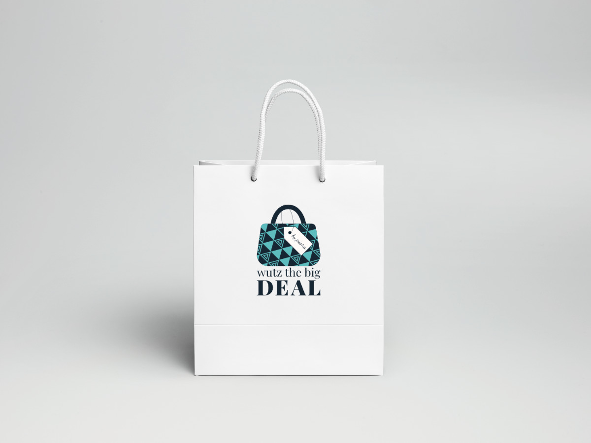 Wutz the Big Deal Logo Shopping Bag