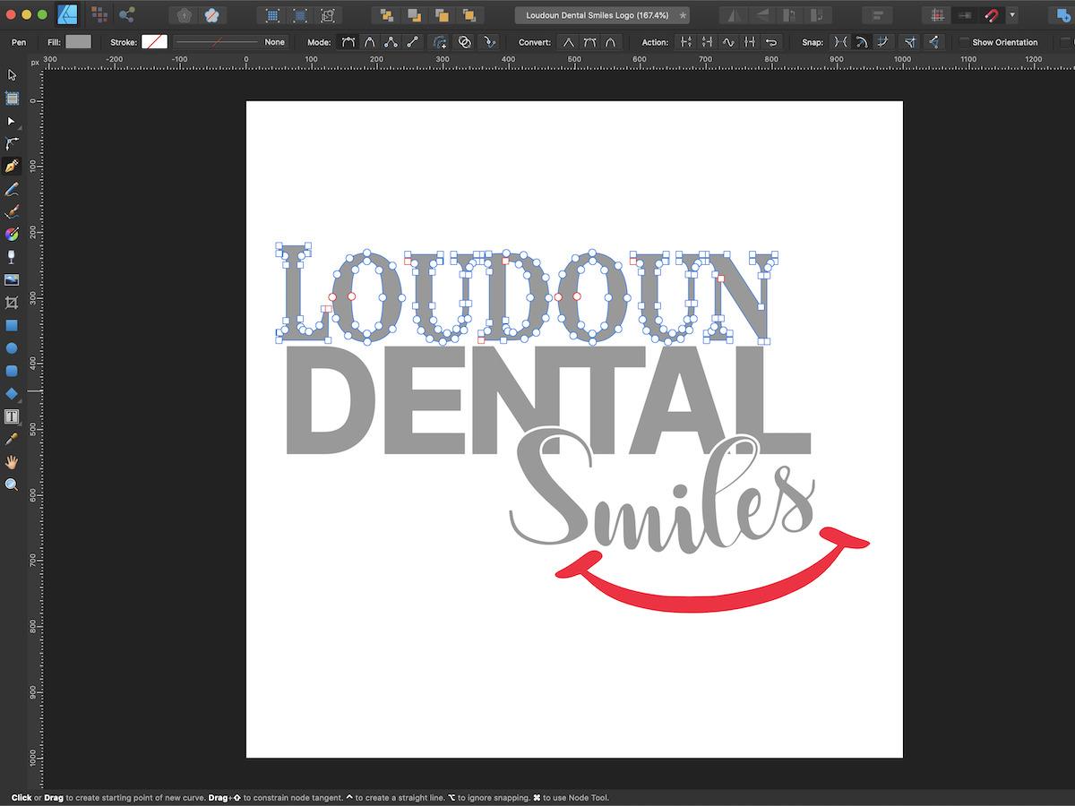 Loudoun Dental Smiles Logo Vector