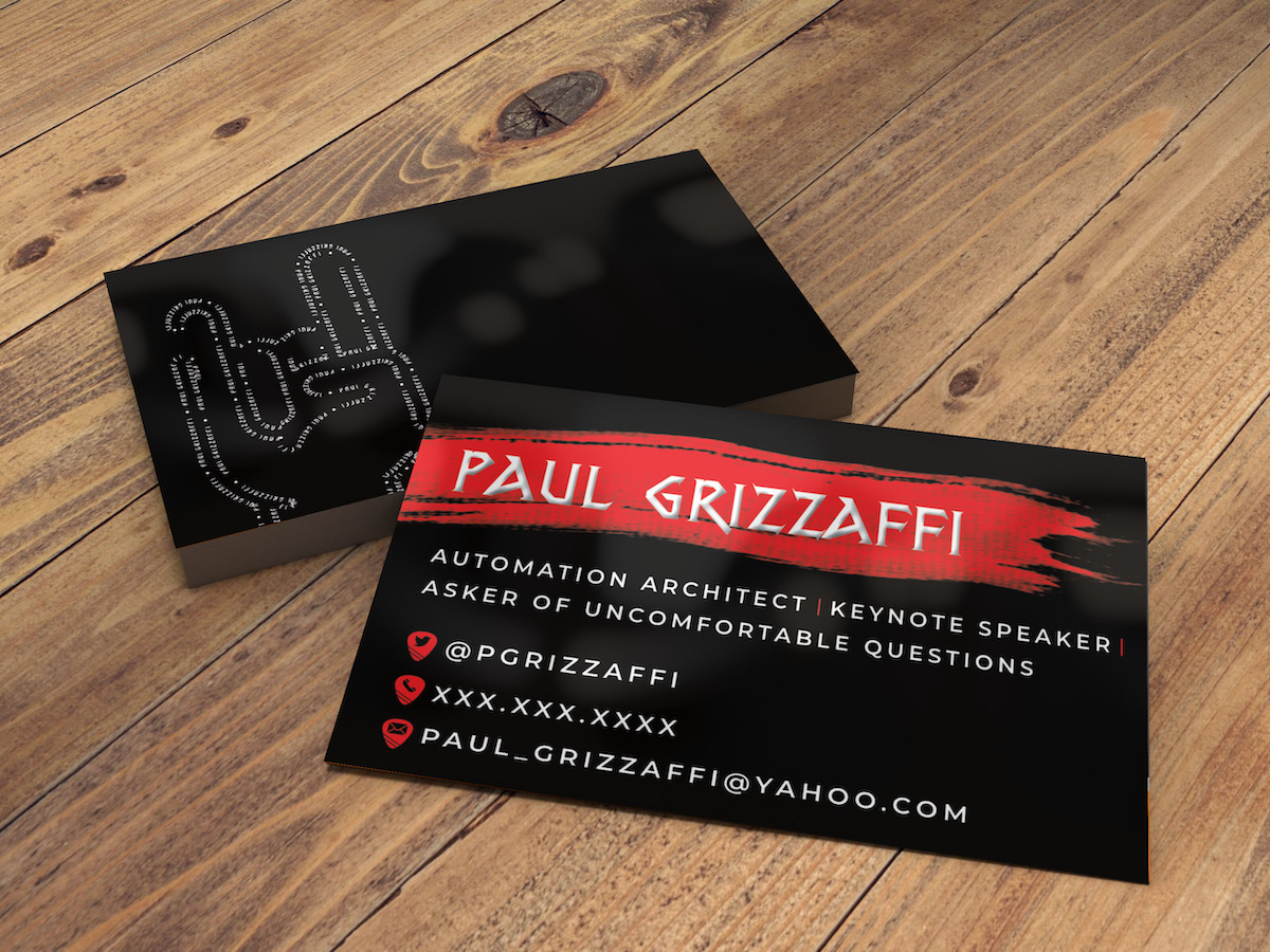 Paul Grizzaffi Business Cards
