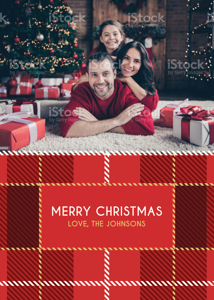 Flannel Pajamas Card Template Back