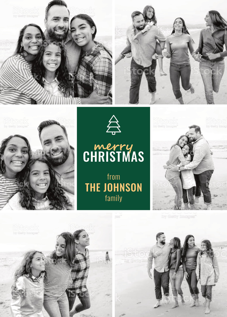 Simple Evergreen Card Template Back
